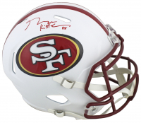 George Kittle Signed 49ers Full-Size Matte White Speed Helmet (Beckett COA) at PristineAuction.com