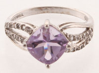 Sterling Silver Amethyst Swirl Ring - SZ 5 at PristineAuction.com