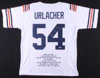 "Brian Urlacher Signed Career Highlight Stat Jersey Inscribed ""HOF 2018"" (Beckett COA) at PristineAuction.com"
