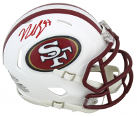 Nick Bosa Signed 49ers Matte White Speed Mini Helmet (Beckett COA) at PristineAuction.com
