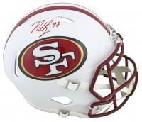 Nick Bosa Signed 49ers Full-Size Matte White Speed Helmet (Beckett COA) at PristineAuction.com