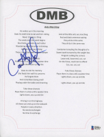 """Carter Beauford Signed Dave Matthews Band """"Ants Marching"""" 8.5x11 Lyric Sheet (Beckett COA) at PristineAuction.com"""