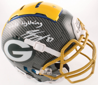 "Jordy Nelson Signed Packers Full-Size Authentic On-Field Hydro Dipped F7 Helmet Inscribed ""White Lightning"" (Beckett COA) at PristineAuction.com"
