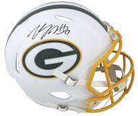 Davante Adams Signed Packers Matte White Full-Size Speed Helmet (Beckett COA) at PristineAuction.com