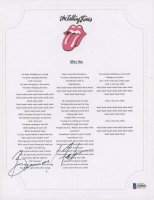 """Bernard Fowler Signed The Rolling Stones """"Miss You"""" 8.5x11 Lyric Sheet (Beckett COA) at PristineAuction.com"""