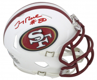 Jerry Rice Signed 49ers Matte White Speed Mini Helmet (Beckett COA) at PristineAuction.com