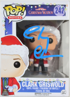 "Chevy Chase Signed ""National Lampoon's Christmas Vacation"" #242 Clark Griswold Funko Pop! Vinyl Figure (Beckett COA & Chase Hologram) at PristineAuction.com"