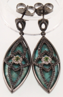 Sterling Silver Turquoise & Multi Gemstone Earring at PristineAuction.com