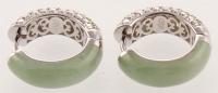 Silver Jade & Peridot Reversible Hoop Earrings at PristineAuction.com