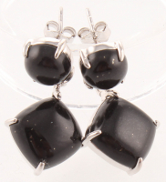 Sterling Silver Colorado Black Moon Drop Earrings at PristineAuction.com
