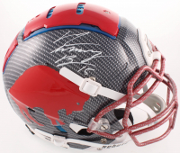 """John """"Smokey"""" Brown Signed Bills Full-Size Authentic On-Field Hydro Dipped F7 Helmet (JSA COA) at PristineAuction.com"""