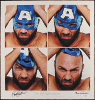 """Randy Couture Signed """"The Real Captain America"""" 22.5x23.5 AP UFC Fine Art Giclee by Iconic Sports Photographer Eric Williams (PA LOA & JSA COA) at PristineAuction.com"""