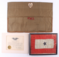 1917-1919 WWl 13x17 Framed Service Flag & Certificate of Appreciation For Patriotic Service with Apron at PristineAuction.com