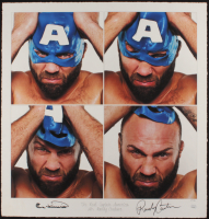 "Randy Couture Signed ""The Real Captain America"" 22.5x23.5 AP UFC Fine Art Giclee by Iconic Sports Photographer Eric Williams (PA LOA & JSA COA) at PristineAuction.com"