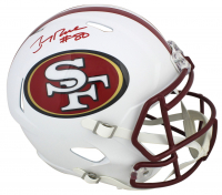 Jerry Rice Signed 49ers Full-Size Matte White Speed Helmet (Beckett COA) at PristineAuction.com