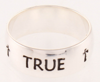 Sterling Silver True Love Waits Band Ring - SZ 7 at PristineAuction.com