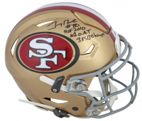 "Jerry Rice Signed 49ers Full-Size Authentic On-Field Speed Flex Helmet Inscribed ""HOF 2010,"" ""3x SB Champ"" & ""GOAT"" (Beckett COA) at PristineAuction.com"
