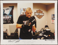 "Chuck ""Iceman"" Liddell Signed ""MMA's Original Outlaw"" 17x22 AP UFC Fine Art Giclee by Iconic Sports Photographer Eric Williams (PA LOA & JSA COA) at PristineAuction.com"