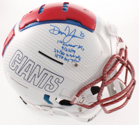 Daniel Jones Signed Giants Full-Size Authentic On-Field Hydro Dipped F7 Helmet with Multiple Inscriptions (JSA COA) at PristineAuction.com