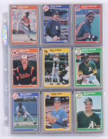 1985 Fleer Update Complete Set of (132) Baseball Cards with #3 Dusty Baker, #2 Bill Almon, #1 Don Aase at PristineAuction.com