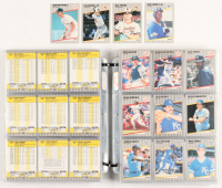 1989 Fleer Complete Set of (660) Baseball Cards In Pages with #548 Ken Griffey Jr. RC, #616E Bill Ripken, #617 Cal Ripken, #258 Don Mattingly at PristineAuction.com