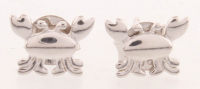 Sterling Silver Crab Plain Stud Earrings at PristineAuction.com