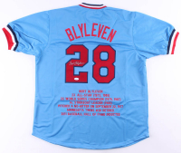 Bert Blyleven Signed Career Highlight Stat Jersey (JSA COA) at PristineAuction.com