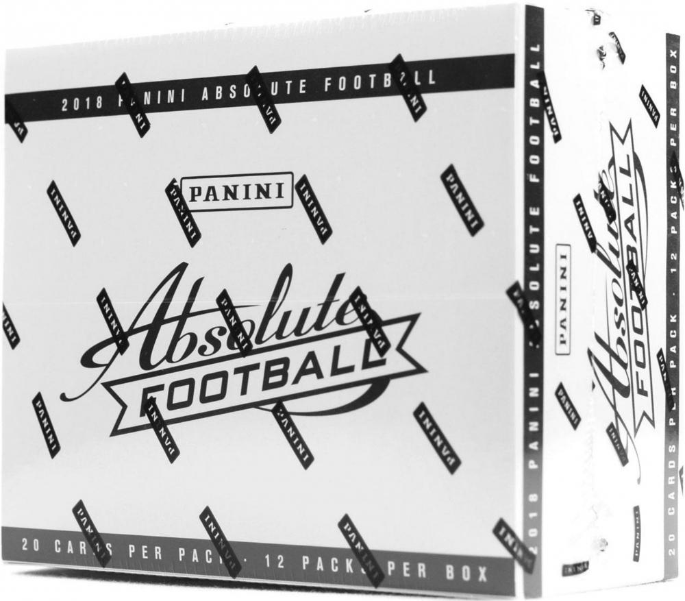2018 Panini Absolute Football Unopened Jumbo Box of (12) Packs at PristineAuction.com