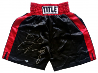 Floyd Mayweather Jr Signed Title Boxing Trunks (Beckett COA) at PristineAuction.com
