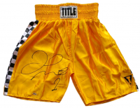 Floyd Mayweather Jr. Signed Title Boxing Trunks (Beckett COA) at PristineAuction.com