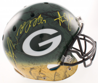 Davante Adams, Aaron Jones, & Jamal Williams Signed Packers Full-Size Authentic On-Field Hydro-Dipped Helmet (JSA COA at PristineAuction.com