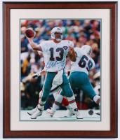 Dan Marino Signed Dolphins 22.5x26.5 Custom Framed Photo Display (Beckett LOA) at PristineAuction.com