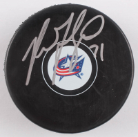 Nick Foligno Signed Blue Jackets Logo Hockey Puck (JSA COA) at PristineAuction.com