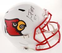 "Lamar Jackson Signed Louisville Cardinals Full-Size Speed Helmet Inscribed ""HT 16"" (JSA COA) at PristineAuction.com"