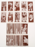 """1938 Churchman """"Boxing Personalities"""" Complete Set of (50) Cards with Jack Dempsey, Joe Louis, Jack Johnson, James Braddock, Gene Tunney at PristineAuction.com"""