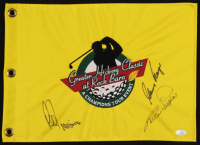 Gary Player, Lee Trevino & Bernhard Langer Signed Greater Hickory Classic Pin Flag (JSA COA) at PristineAuction.com