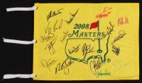 2008 Masters Pin Flag Signed by (18) Phil Mickelson, Zach Johnson, Vijay Singh, Bubba Watson, Nick Faldo (JSA ALOA) at PristineAuction.com