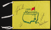 1999 Masters Pin Flag Signed by (4) with Tiger Woods, Mark O'Meara, Bernhard Langer & Fred Couples (JSA ALOA) at PristineAuction.com