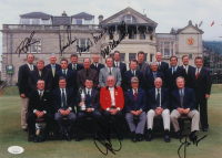 British Open Champions 10x14 Photo Signed by (6) with Jack Nicklaus, Mark O'Meara, John Daly, Tom Lehman, Nick Price, & Mark Calcavecchia (JSA ALOA) at PristineAuction.com