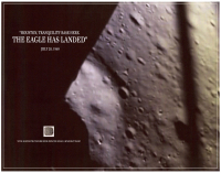 "Apollo 11 ""The Eagle Has Landed"" 8x10 Photo with Metal Shavings from Spacecraft (The Zone COA) at PristineAuction.com"