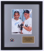 Yogi Berra Signed Yankees 16x19 Custom Framed Photo Display with 1953 YankeesWorld Series Pin (PSA COA) at PristineAuction.com