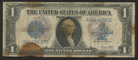 1923 $1 One Dollar Silver Certificate Large Size Blue Seal Bank Note at PristineAuction.com