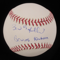 """Brad Marchand Signed OML Baseball Inscribed """"Bruins Nation"""" (Marchand COA) at PristineAuction.com"""