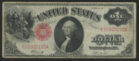 1917 $1 One Dollar United States Legal Tender Red Seal Large Size Bank Note at PristineAuction.com