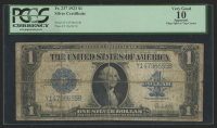 1923 $1 One Dollar Blue Seal Large Size Silver Certificate Bank Note (PCGS 10) at PristineAuction.com