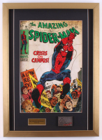 "Vintage ""Spider-Man"" 18x25 Custom Framed Comic Book Print Display with Spider-Man Pin at PristineAuction.com"
