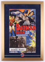 """The Adventures of Batman"" 16x22.5 Custom Framed Print Display with Original 1966 Batman Pin at PristineAuction.com"