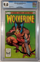 "1982 ""Wolverine"" Issue #4 Marvel Comic Book (CGC 9.0) at PristineAuction.com"