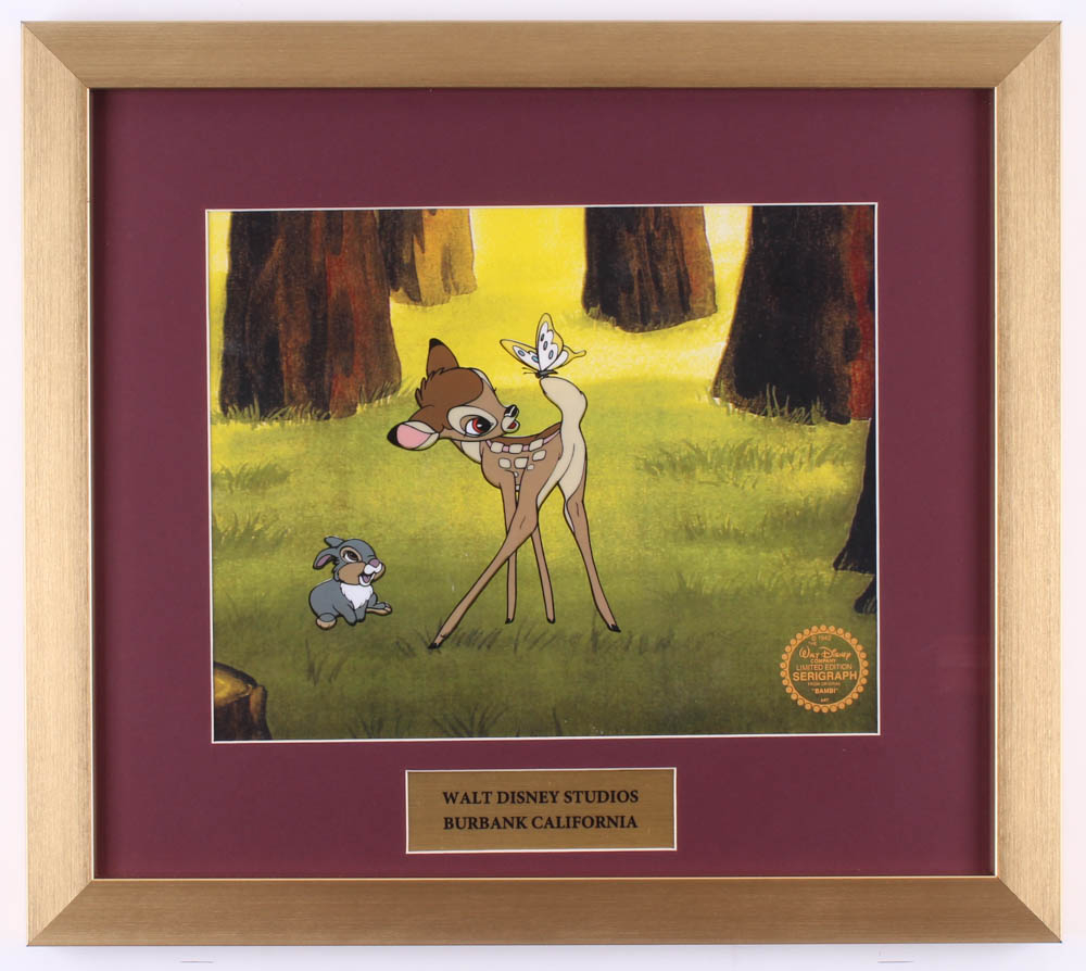 "Walt Disney's ""Bambi"" 16x18 Custom Framed Animation Serigraph Cel Display at PristineAuction.com"