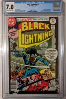 "1977 ""Black Lightning"" Issue #1 DC Comic Book (CGC 7.0) at PristineAuction.com"